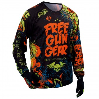 Motocross Jerseys Freegun Devo Iron Orange Green Kid