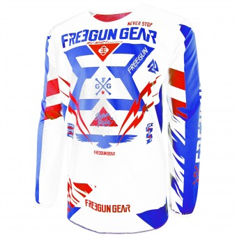 Motocross Jerseys Freegun Devo Trooper Blue Red Kid