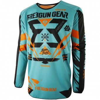 Motocross Jerseys Freegun Devo Trooper Mint Orange Kid
