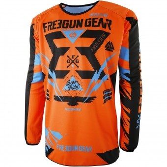 Motocross Jerseys Freegun Devo Trooper Neon Orange Kid