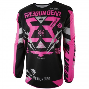 Motocross Jerseys Freegun Devo Trooper Neon Pink Kid