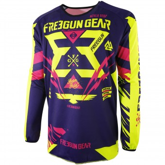 Motocross Jerseys Freegun Devo Trooper Yellow Magenta Kid
