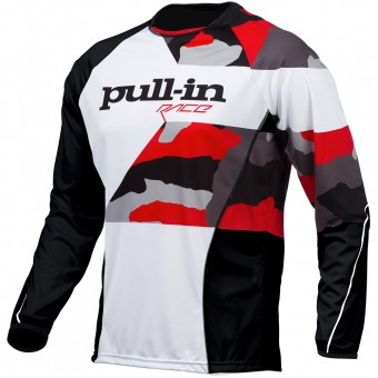 Motocross Jerseys pull-in Fighter Camo Black White Red