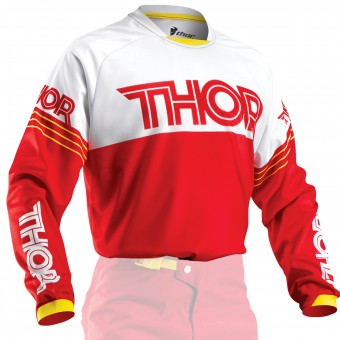 Motocross Jerseys Thor Phase Hyperion Red Kid