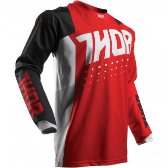 Motocross Jerseys Thor Pulse Aktiv Black Red Kid