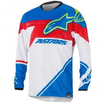 Motocross Jerseys Alpinestars Racer Supermatic Blue Red Kid