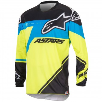 Motocross Jerseys Alpinestars Racer Supermatic Blue Yellow Kid