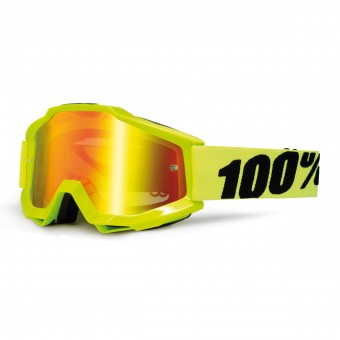 Motocross Goggles 100% Accuri Fluro Yellow