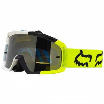 Motocross Goggles FOX Air Space Creo White Yellow Child 214