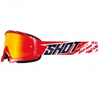 Motocross Goggles SHOT Chase Red Iridium Red