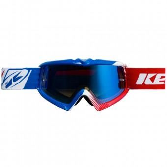 Motocross Goggles Kenny Performance Blue White Red Kid