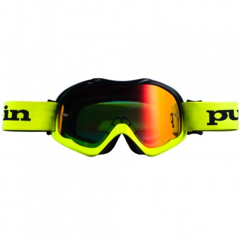 Motocross Goggles pull-in Pull-In Black Neon yellow