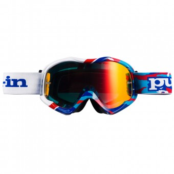 Motocross Goggles pull-in Pull-In Camo Blue