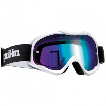 Motocross Goggles pull-in Pull-In White