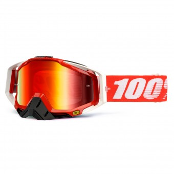 Motocross Goggles 100% Racecraft Fire Red