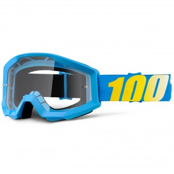 Motocross Goggles 100% Strata Blue Clear Lens