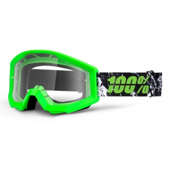 Motocross Goggles 100% Strata Crafty Lime