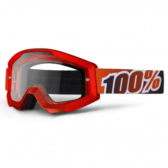 Motocross Goggles 100% Strata Fire Red