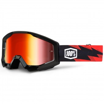 Motocross Goggles 100% Strata Slash Mirror Red Lens