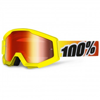 Motocross Goggles 100% Strata Sunny Days Mirror Red Lens