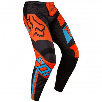 Motocross Trousers FOX 180 Falcon Black Orange Pant Child 016