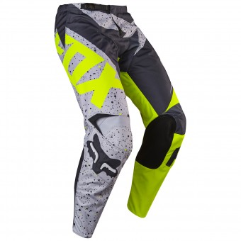 Motocross Trousers FOX 180 Nirv Grey Yellow Pant 086