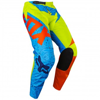 Motocross Trousers FOX 180 Nirv Yellow Blue Pant Child 586