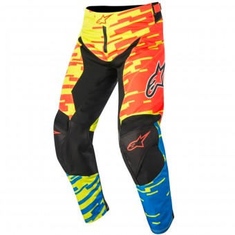 Motocross Trousers Alpinestars Racer Braap Red Blue Pant Kid