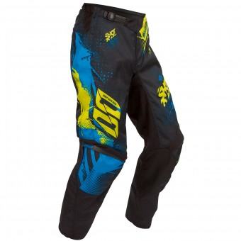 Motocross Trousers SHOT Devo Capture Blue Lime Pant Kid