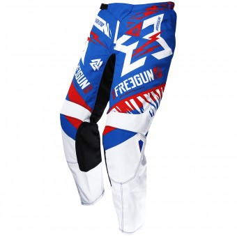 Motocross Trousers Freegun Devo Trooper Blue Red Pant Kid
