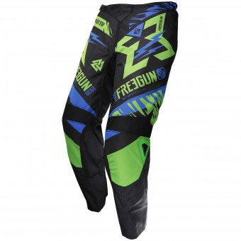 Motocross Trousers Freegun Devo Trooper Green Blue Pant Kid