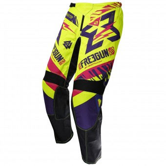 Motocross Trousers Freegun Devo Trooper Magenta Pant Kid