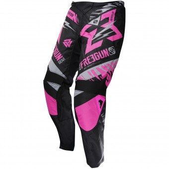 Motocross Trousers Freegun Devo Trooper Neon Pink Pant Kid