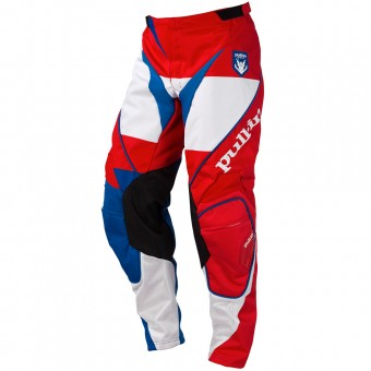 Motocross Trousers pull-in Fighter Blue White Red Pant