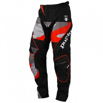 Motocross Trousers pull-in Fighter Camo Black Orange Pant