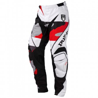 Motocross Trousers pull-in Fighter Camo Black White Red Pant
