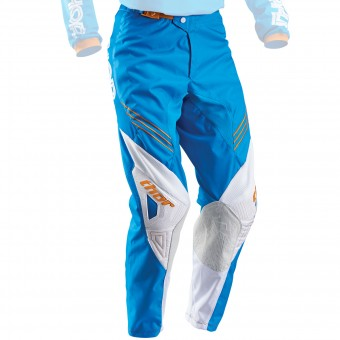 Motocross Trousers Thor Phase Hyperion Blue White Pant