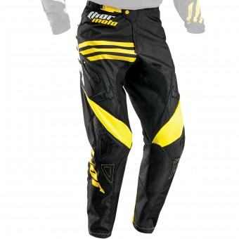 Motocross Trousers Thor Phase Strands Black Yellow Pant