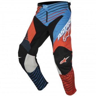 Motocross Trousers Alpinestars Racer Braap Petrol Orange Fluo Pant Child