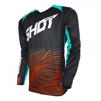Motocross Jerseys SHOT Aerolite Optica Mint Orange