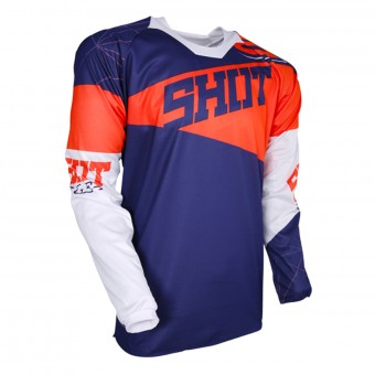 Motocross Jerseys SHOT Contact Infinite Blue Neon Orange