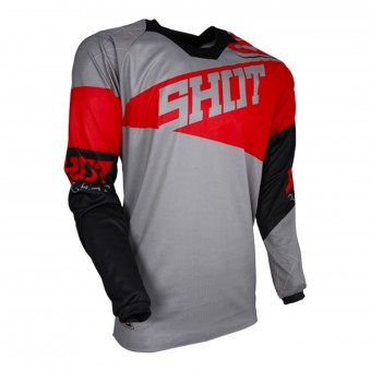 Motocross Jerseys SHOT Contact Infinite Grey Red