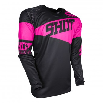 Motocross Jerseys SHOT Contact Infinite Neon Pink