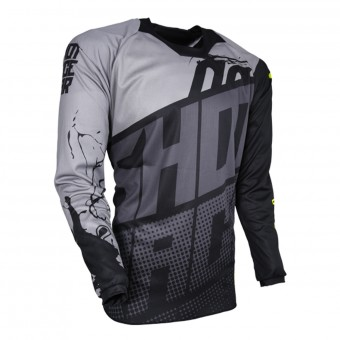 Motocross Jerseys SHOT Contact Venom Grey Black