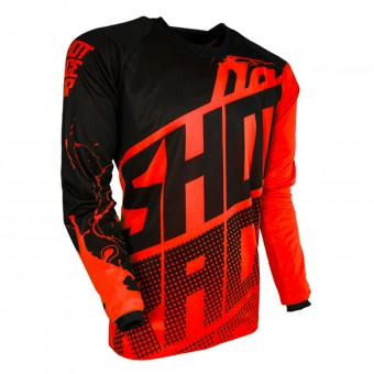 Motocross Jerseys SHOT Contact Venom Neon Orange
