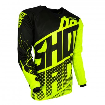 Motocross Jerseys SHOT Contact Venom Neon Yellow