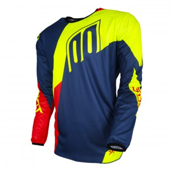 Motocross Jerseys SHOT Devo Alert Blue Red Neon Yellow