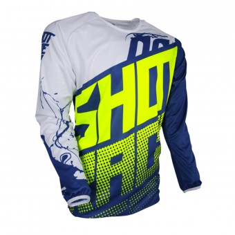 Motocross Jerseys SHOT Devo Venom Blue Neon Yellow Kid