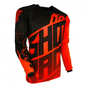 Motocross Jerseys SHOT Devo Venom Neon Orange Kid