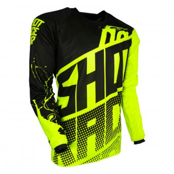 Motocross Jerseys SHOT Devo Venom Neon Yelow Kid